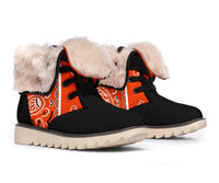 Perfect Orange Bandana Women's Winter Boots