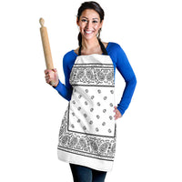 White Big Bandana Aprons
