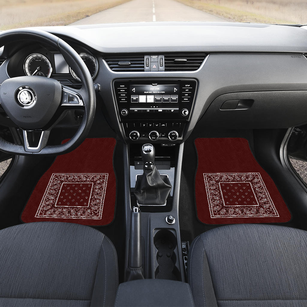 burgundy muscle car floor mats