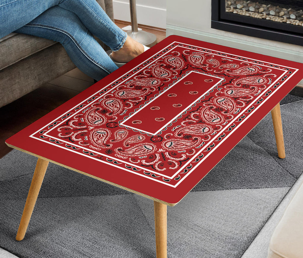 Red Bandana Rectangular Coffee Tables
