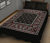 Wicked Black Bandana Bed Quilts with Shams