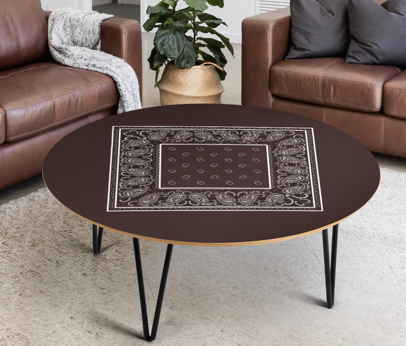 Brown Bandana End Table