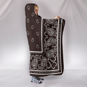 Brown Bandana Hooded Blanket side