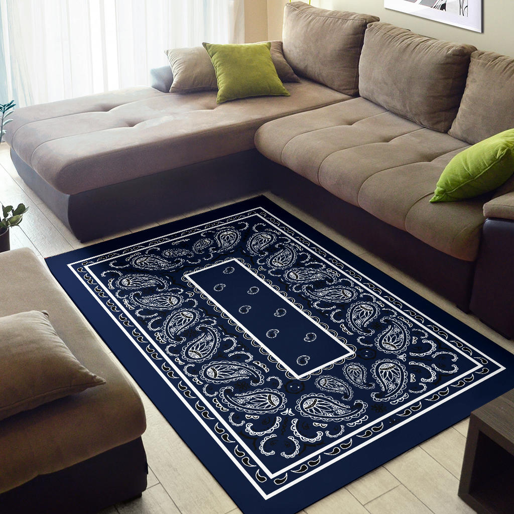 decorative dark blue rug