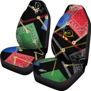 Abstract Bandanas Auto Seat Covers