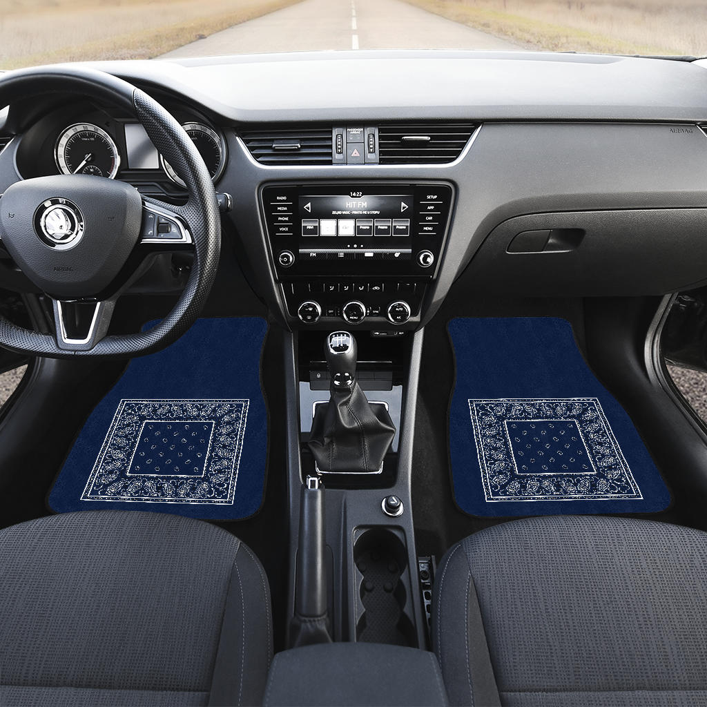 Navy Blue Automobile Floor Mats