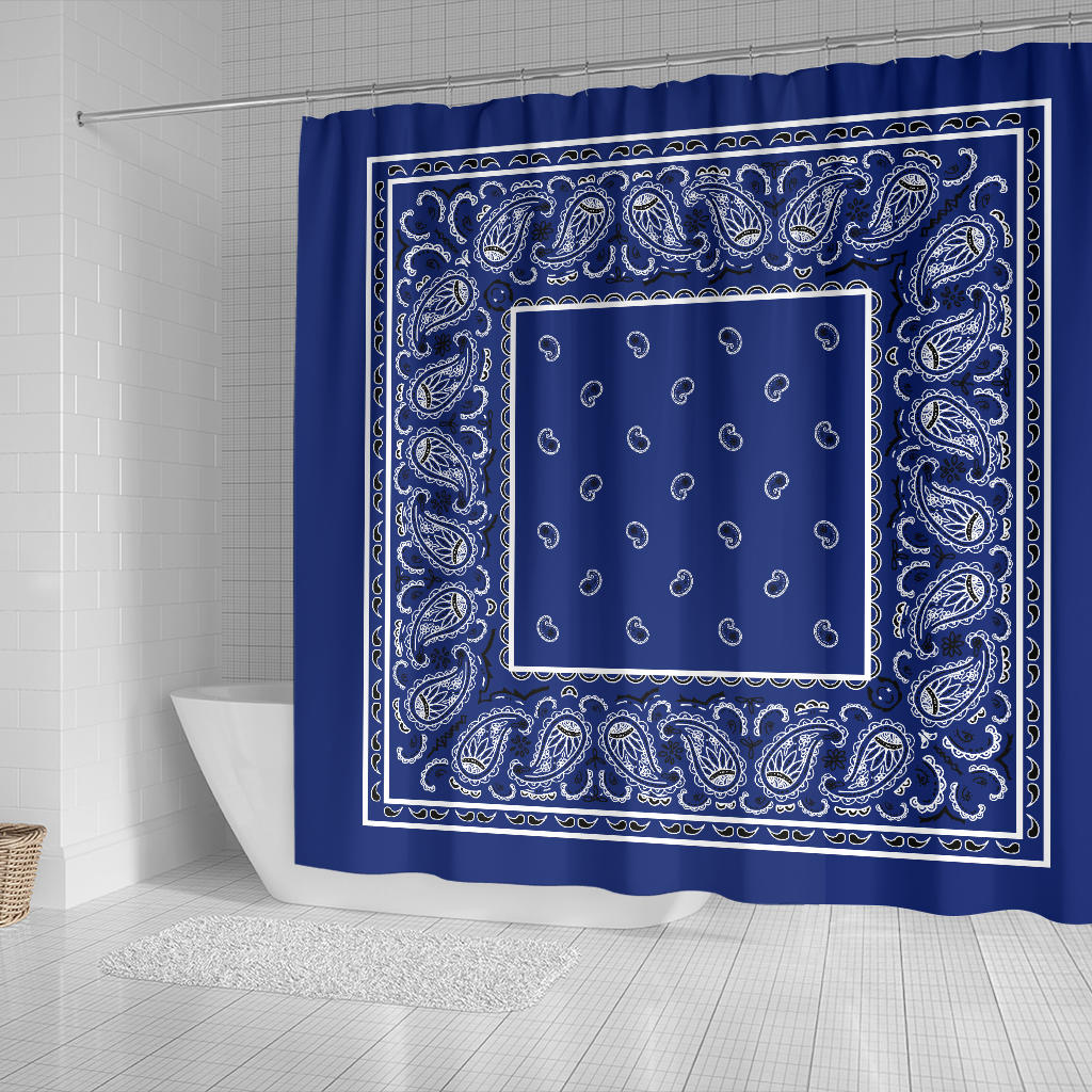 Royal Blue Bandana Shower Curtain