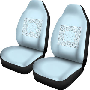 light blue car set cover