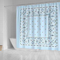 Light Blue Bandana Shower Curtains