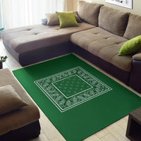 green accent rug