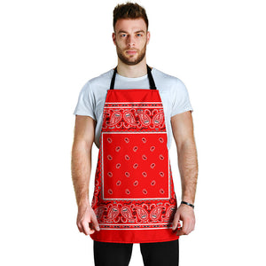 Red Big Bandana Apron