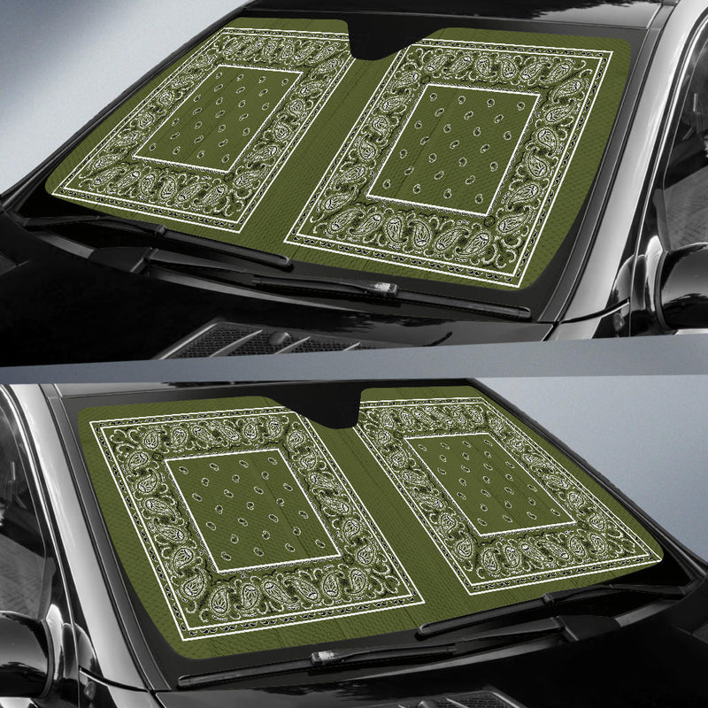 army green auto shade