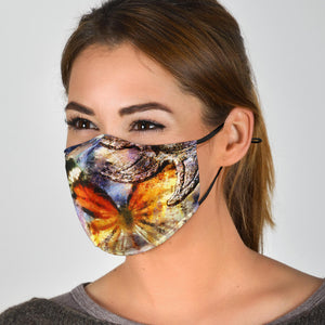 Mixed Media Butterfly Face Mask