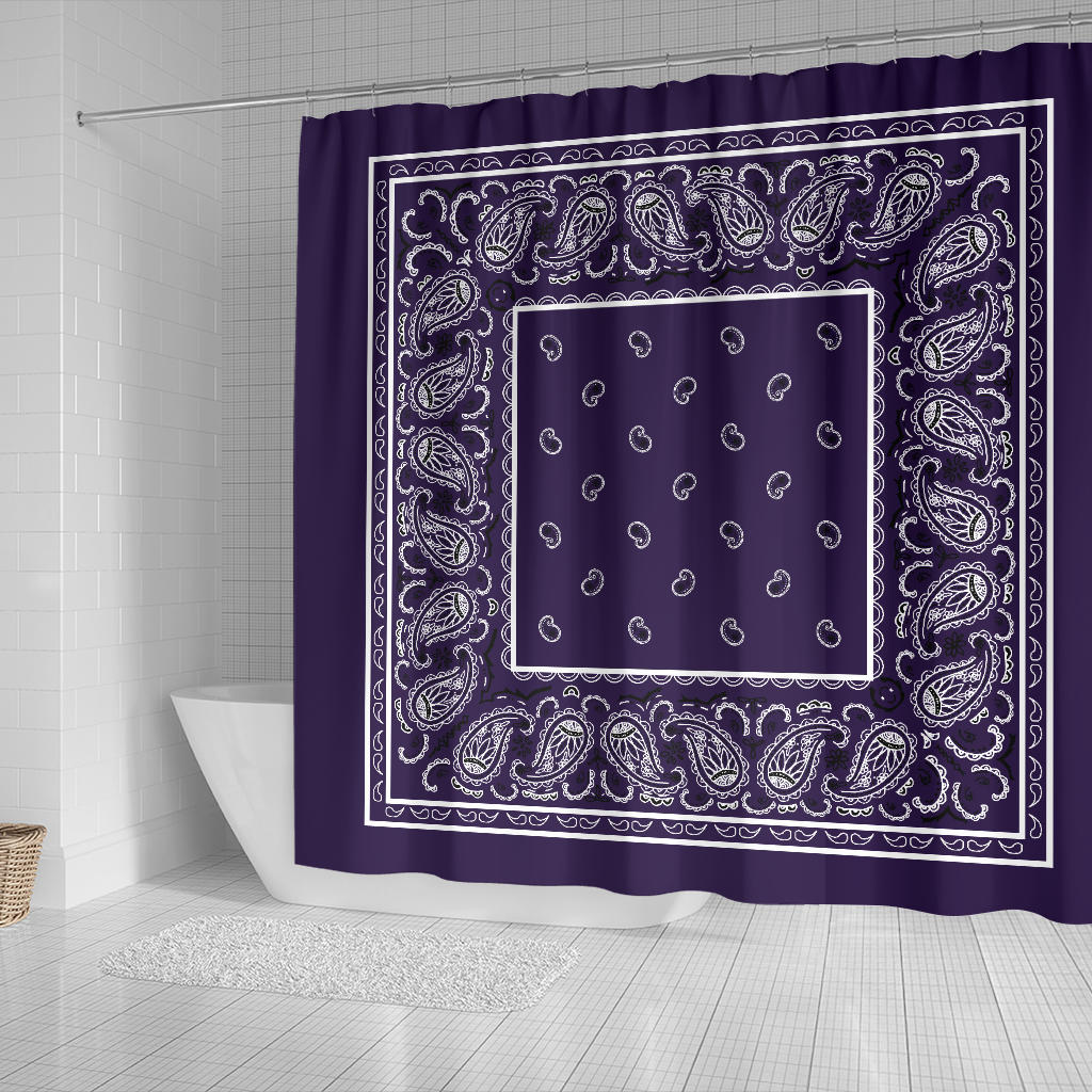 Royal Purple Bandana Shower Curtain