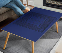 Blue and Black Bandana Rectangular Coffee Tables