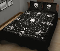 black bandana with skulls bedding