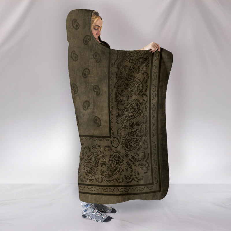 Brown Bandana Hooded Blankets