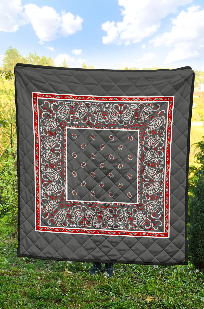 Wicked Gray Bandana Quilts