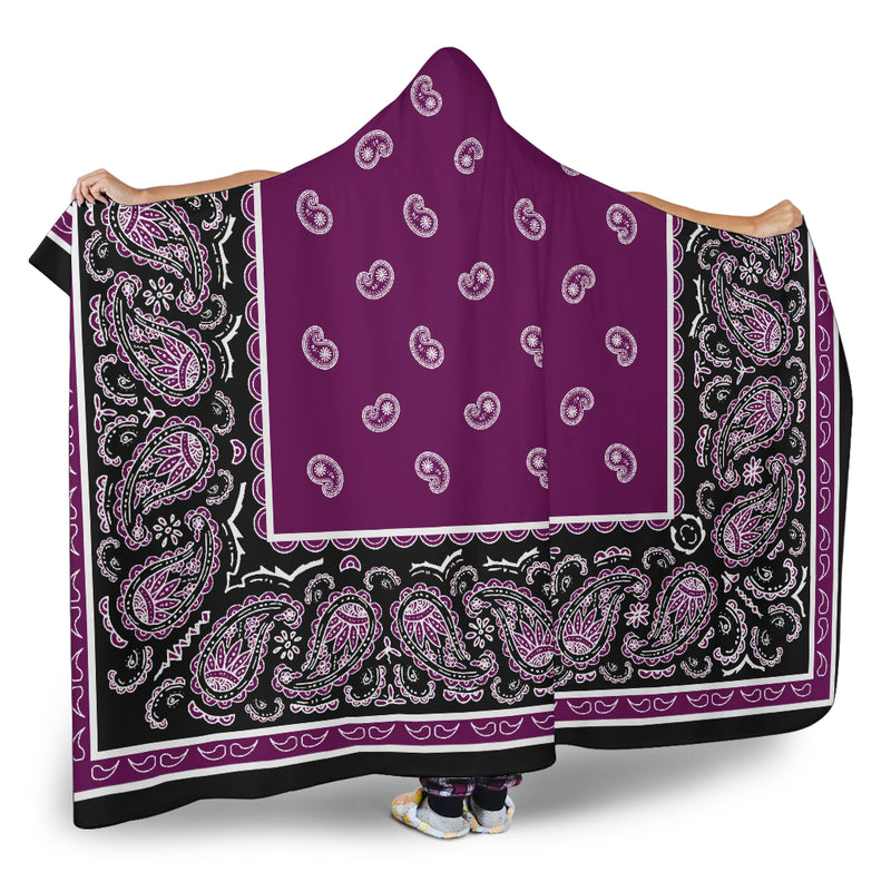 Ultimate Plum and Black Hooded Blanket