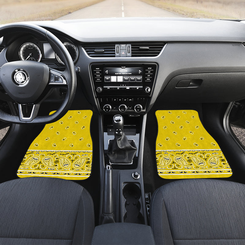 yellow muscle car floor mats
