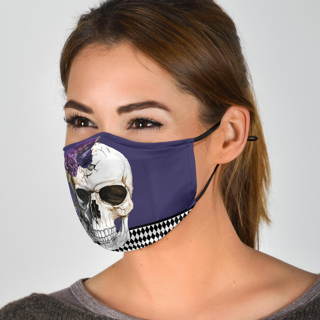 Skull on a Happy Day Adjustable Face Mask