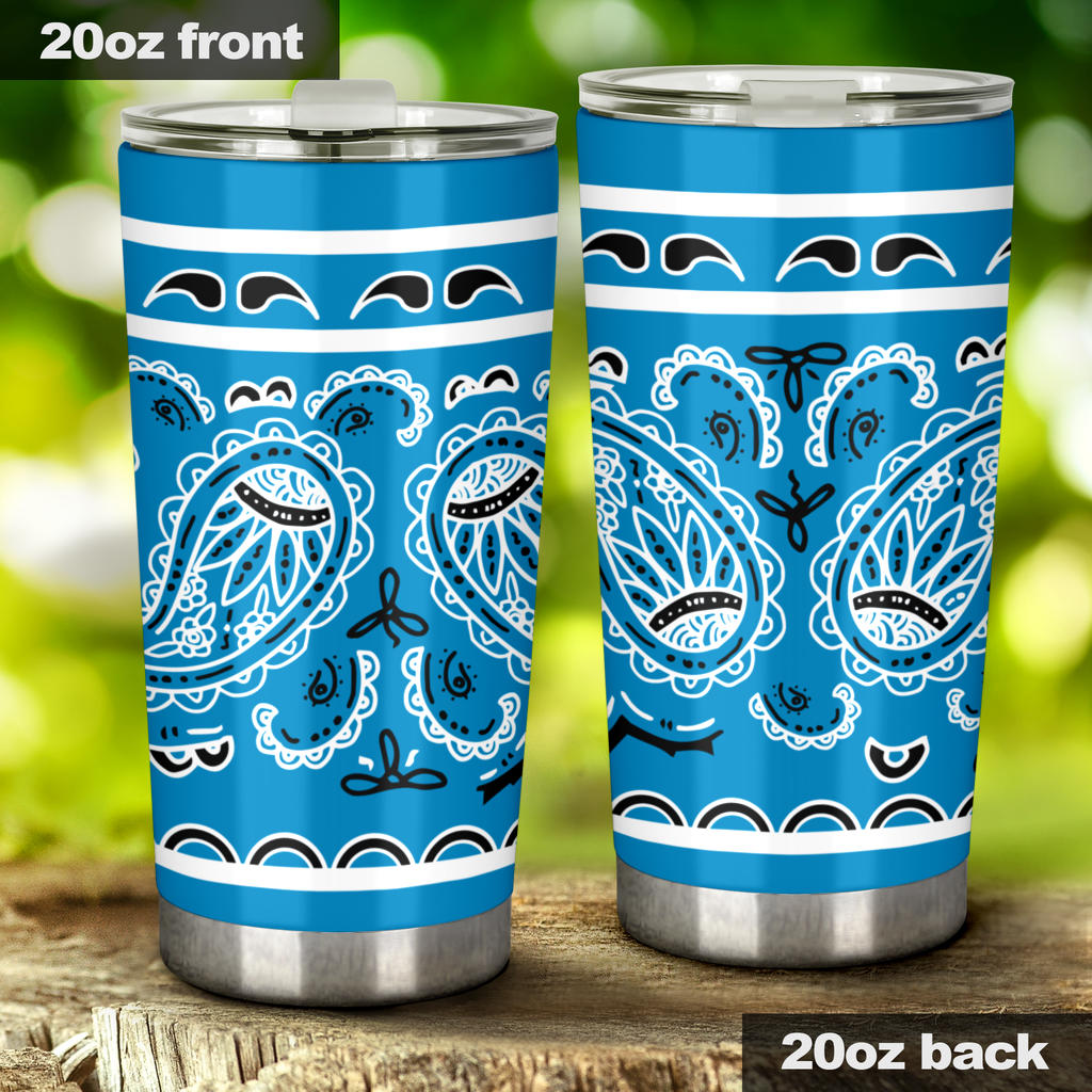 sky blue insulated car cup
