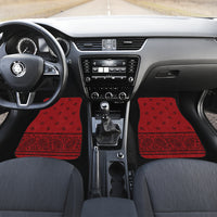 red and black bandana auto show floor mats
