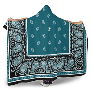 Ultimate Teal and Black Hooded Blanket