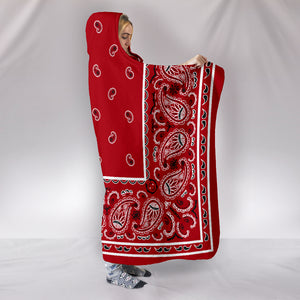 red bandana hooded blankets