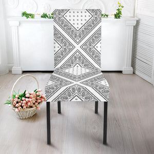 White Paisley Kitchen Chair Slipcovers