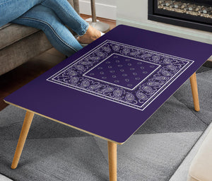 Purple Bandana Rectangular Coffee Table
