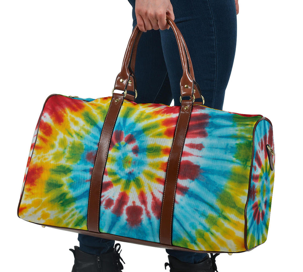 tie dye carry on luggage