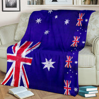 Australian Flags Fleece Throw Blanket