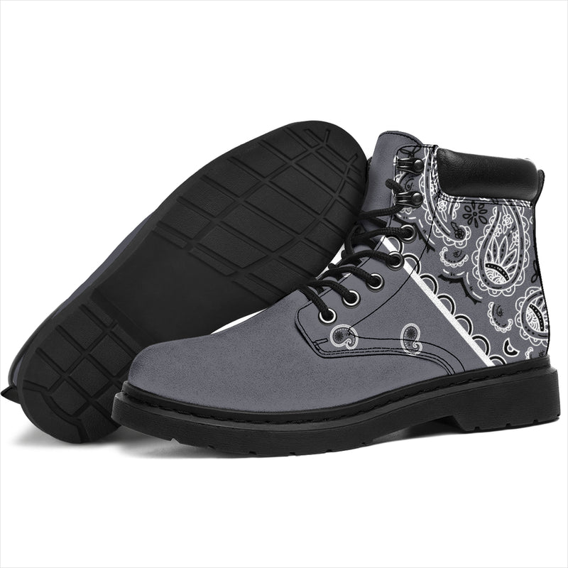 Classic Gray Bandana All Season Boots