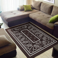 brown throw rugs