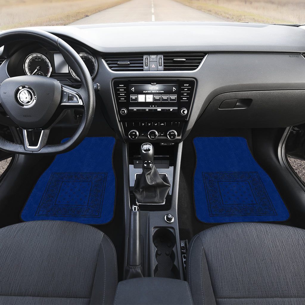 blue car floor mats