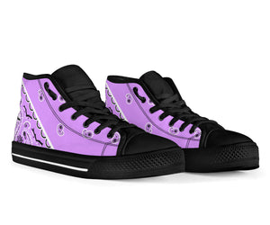Lilac Bandana High Top Sneakers - No Box