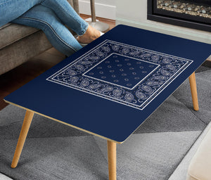 Navy Bandana Rectangular Coffee Table