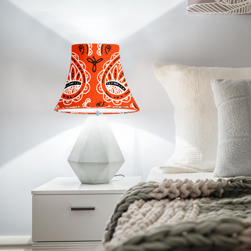 Orange Paisley Bell Lampshade