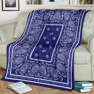 blue fleece bandana blanket