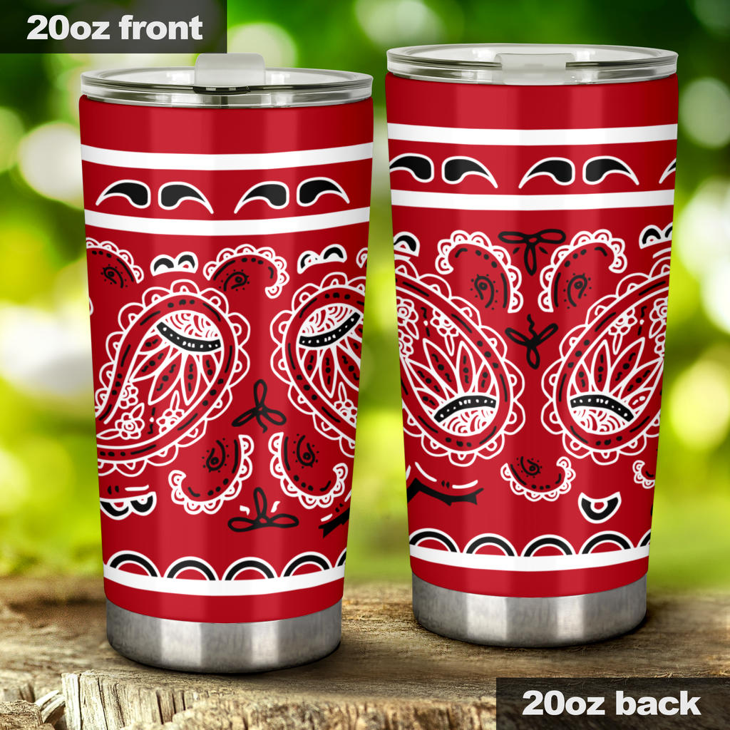 red bandana insulated tumbler