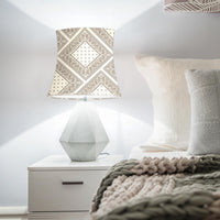 Cream and Brown Bandana Drum Lampshade