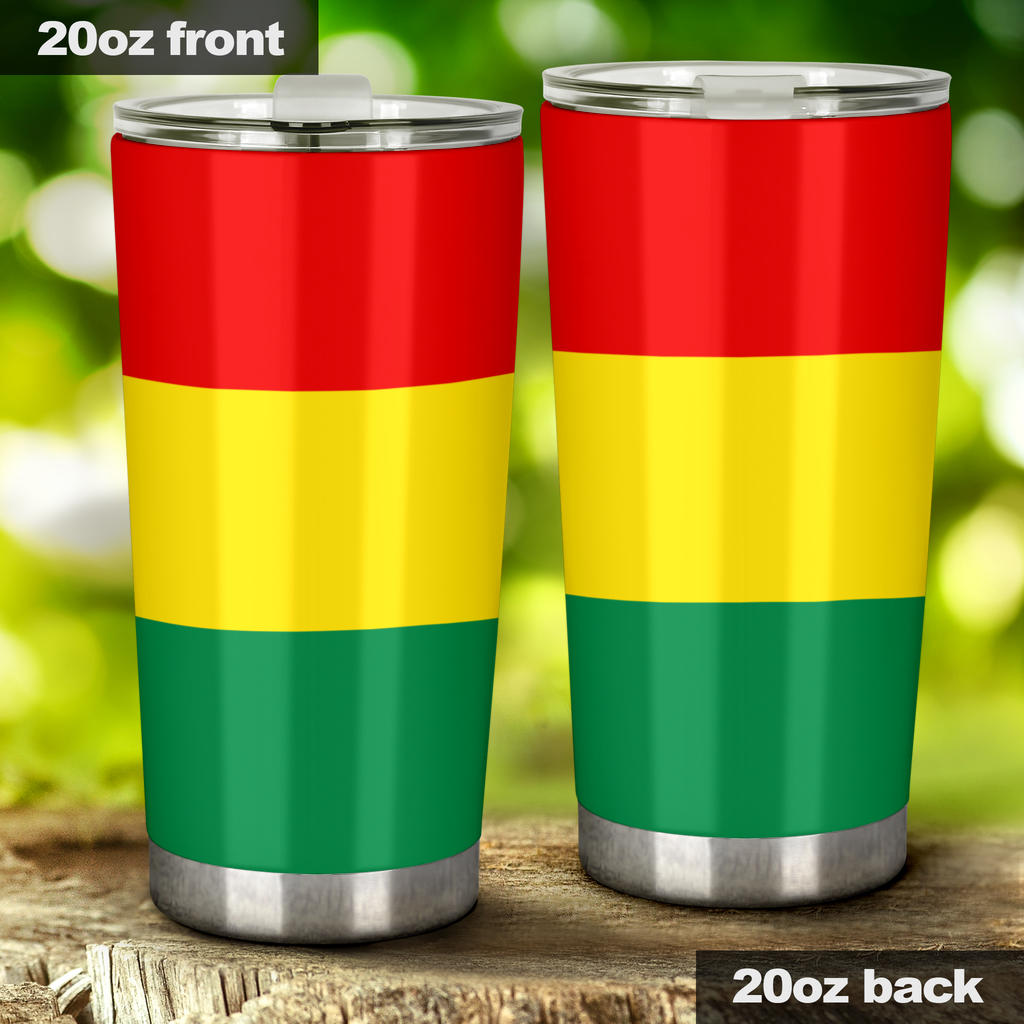 rasta flag style insulated cup