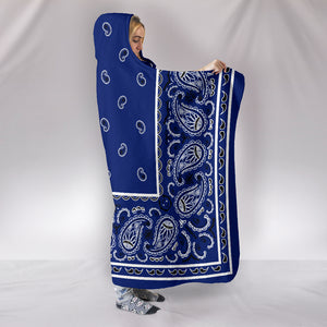 Royal Blue Bandana Hooded Blankets