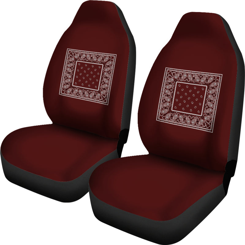 burgundy bucket seat cover