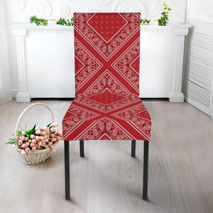 Red Bandana Dining Chair Cover
