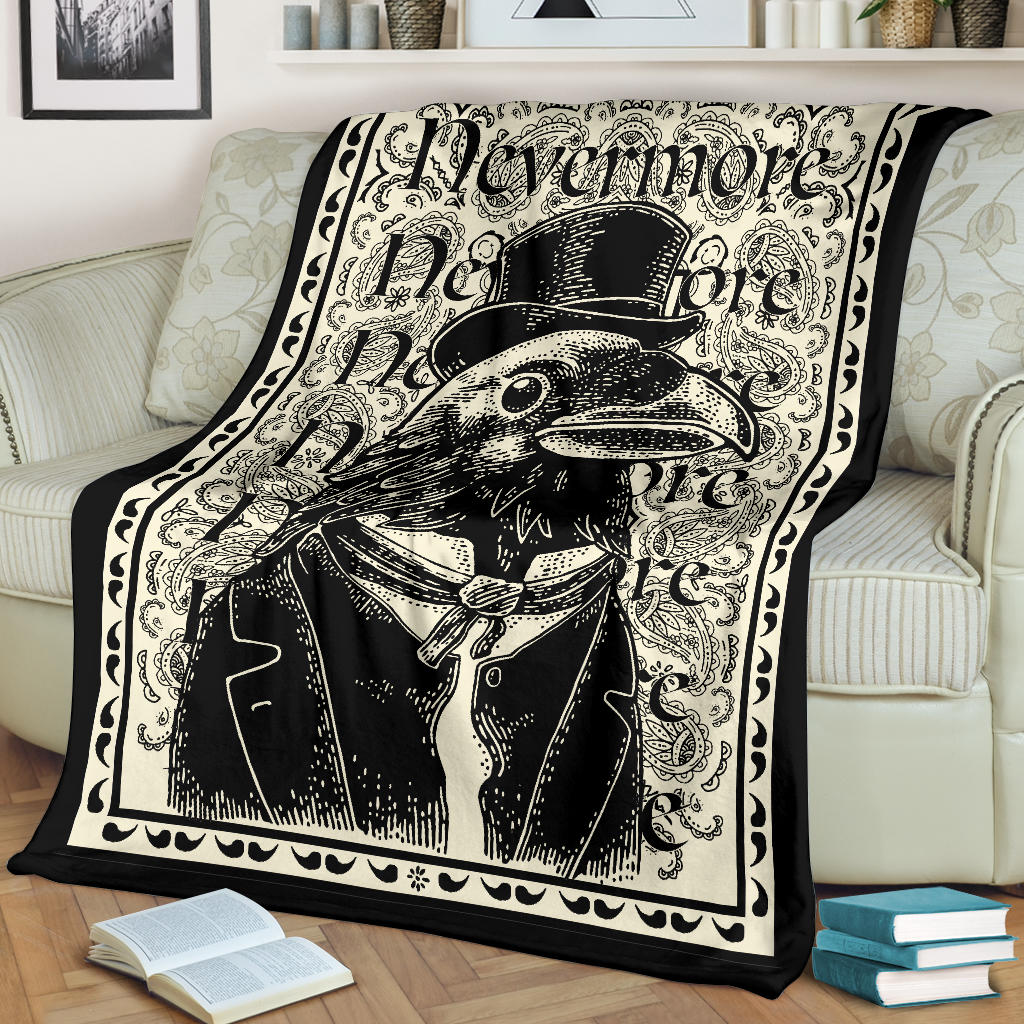 The Dapper Raven Fleece Throw