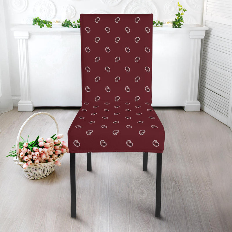 Burgundy Paisley Kitchen Chair Slipcovers