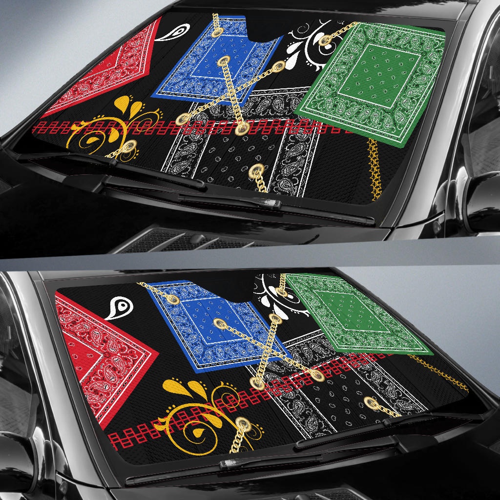 Bandana Auto Window Shade