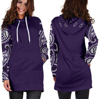 Royal Purple Bandana Hoodie Dress